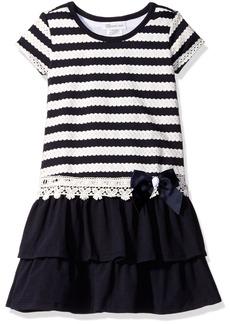 Bonnie Jean Little Girls' Nautical Novelty Knit Dropwaist Dress
