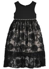 Bonnie Jean Toddler Girls Pearl-Trim Lace Dress