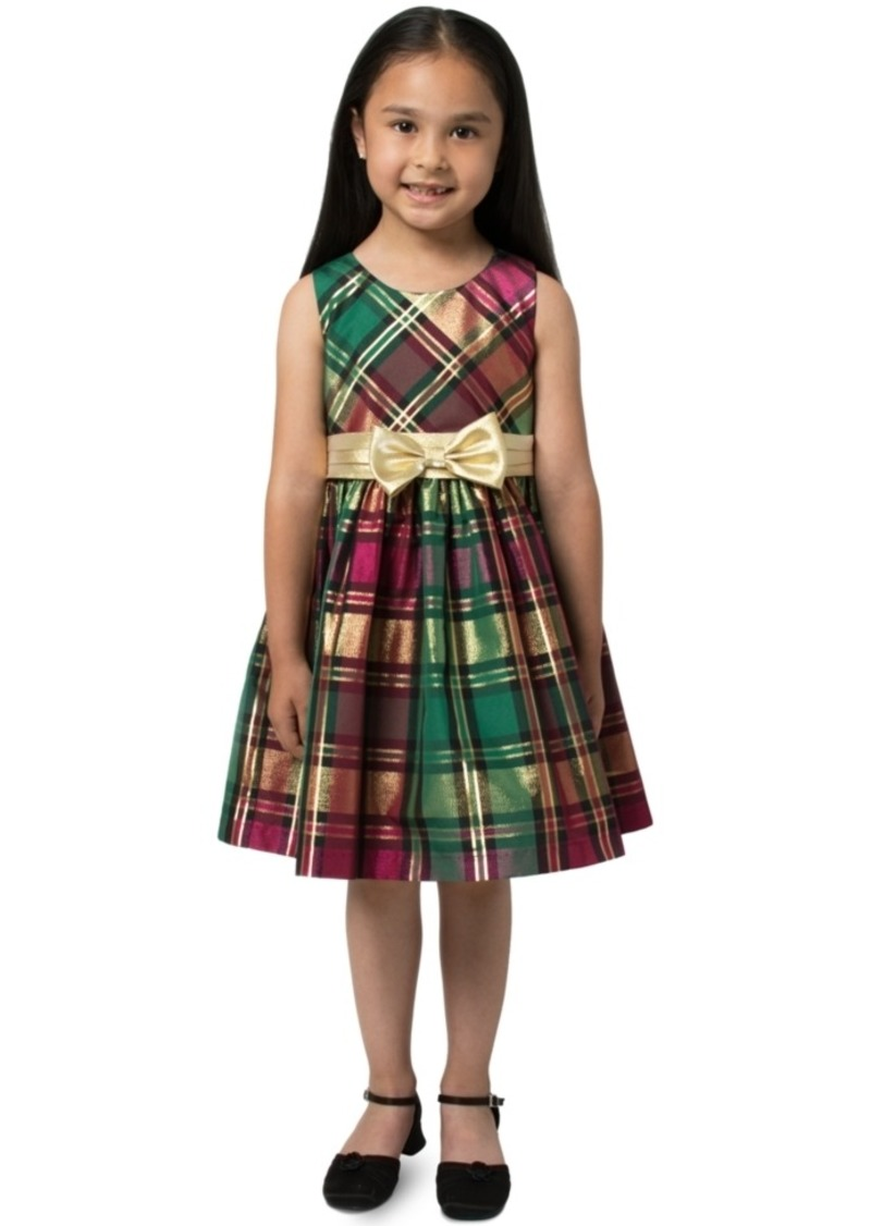 Bonnie Jean Toddler Girls Plaid Bow Dress