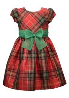 Bonnie Jean Little Girls Plaid Waistline Dress