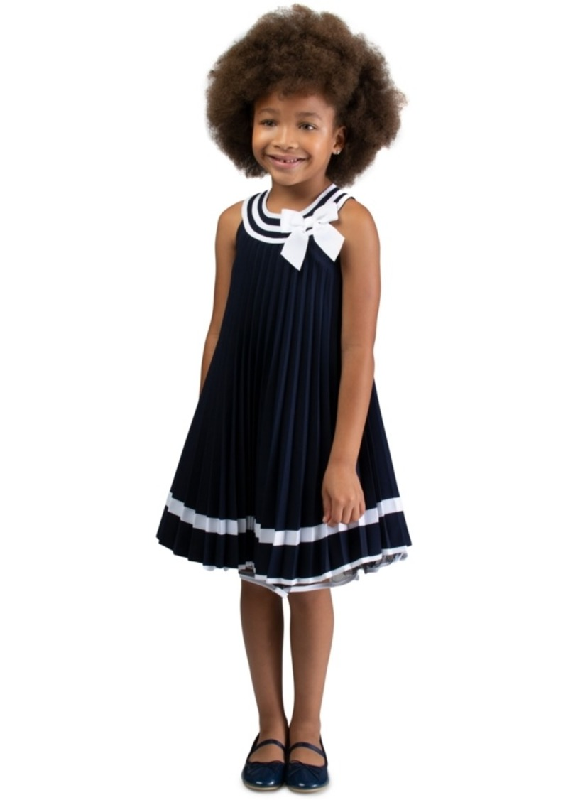Bonnie Jean Little Girls Pleated Trapeze Dress