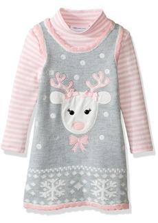 Bonnie Jean Little Girls' Intarsia Sweater Jumper Set with Applique