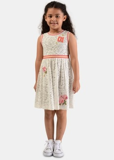 Bonnie Jean Little Girls Rib-Trim Floral Lace Dress