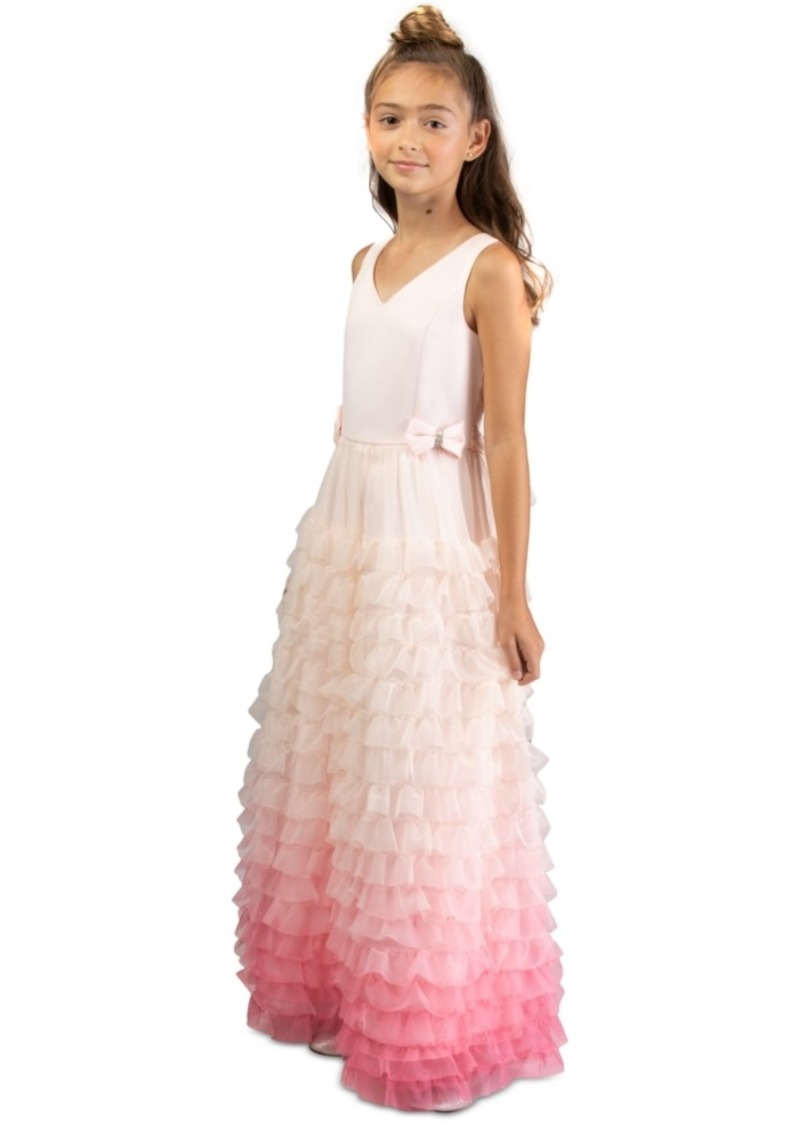 Bonnie Jean Little Girls Ruffled Ombre Gown