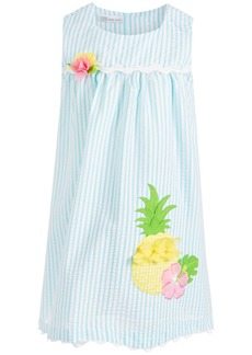 Bonnie Jean Little Girls Seersucker Pineapple Dress