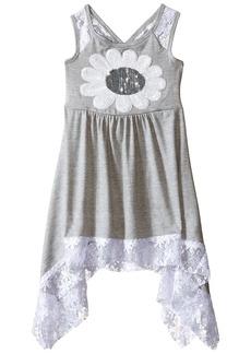 Bonnie Jean Little Girls' Knit Sharkbite Hem Dress Grey