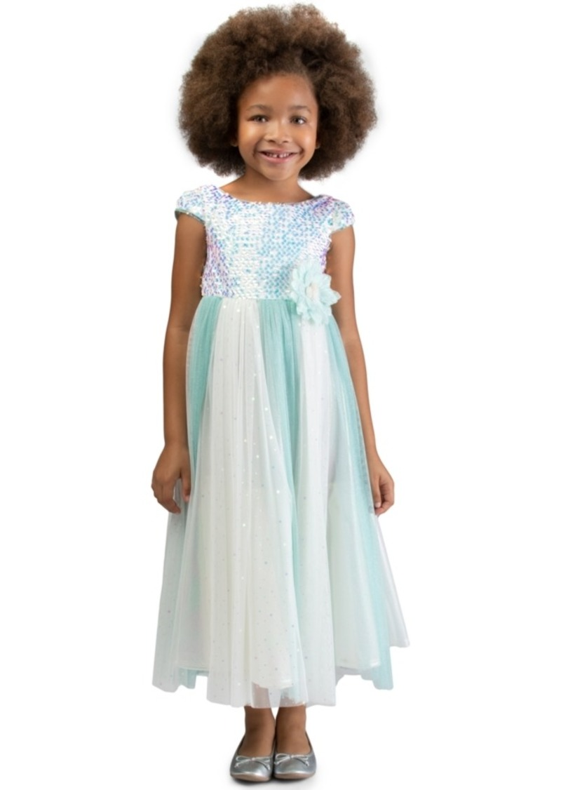 Bonnie Jean Little Girls Sequined Tulle Gown