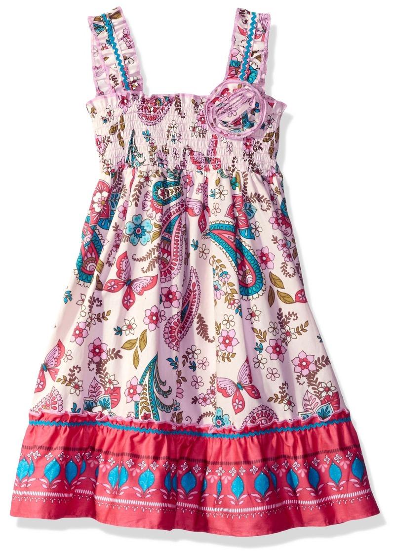 e24a5fdd5aa Bonnie Jean Bonnie Jean Little Girls  Sleeveless Printed Smocked ...