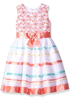 Bonnie Jean Little Girls' Sleevless Bow Front Party Dress