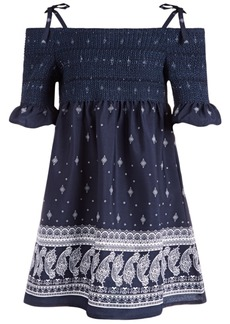 Bonnie Jean Little Girls Smocked Paisley-Print Dress