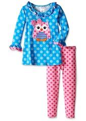 Bonnie Jean Little Girls' Snowflake  Playwear Set Turquoise