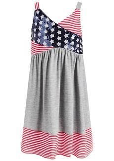 Bonnie Jean Little Girls Stars & Stripes Surplice Dress