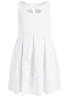 Bonnie Jean Little Girls Textured Box-Pleat Dress