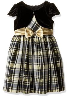 Bonnie Jean Little Girls' Toddler Plaid Mock Cardigan