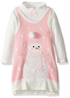 Bonnie Jean Toddler Girls' Intarsia Sweater Jumper Set with Applique