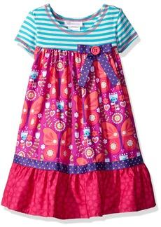 Bonnie Jean Little Girls' Toddler Stripe Knit to Butterfly Print Skirt