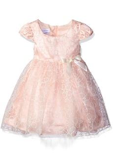 Bonnie Jean Little Girls' Toddler Textured Yarn Embroidered Hi Low Dress