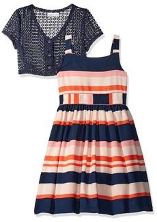 Bonnie Jean Little Girls' Two Piece Dress and Cardigan Set Stripe