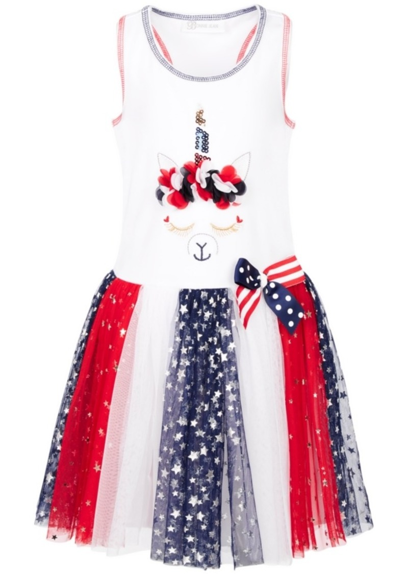 Bonnie Jean Toddler Girls Unicorn Star-Print Tutu Dress