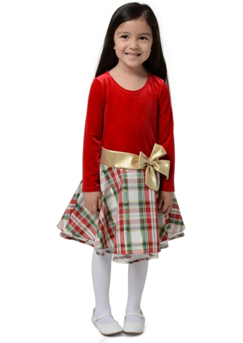 Bonnie Jean Toddler Girls Velvet Plaid Dress