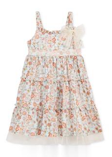 Bonnie Jean Paisley Ruffle Dress, Little Girls (2-6X)