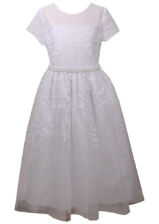 Bonnie Jean Sequin Embroidered Communion Dress