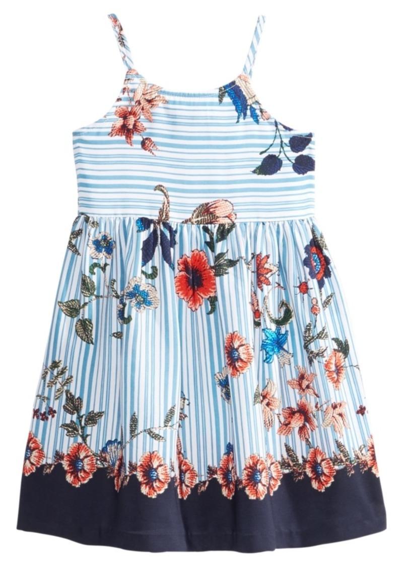 ca410157244 SALE! Bonnie Jean Bonnie Jean Striped Floral-Print Dress, Little Girls