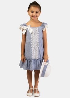 Bonnie Jean Toddler Girls 2-Pc. Clip-Dot Dress & Hat Set
