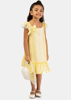 Bonnie Jean Little Girls 2-Pc. Clip-Dot Dress & Hat Set