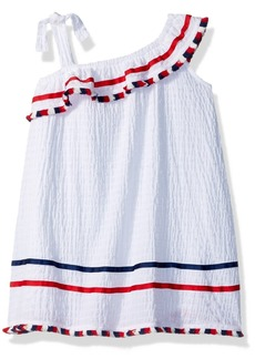 Bonnie Jean Toddler Girls' Americana Dress White with Fringe