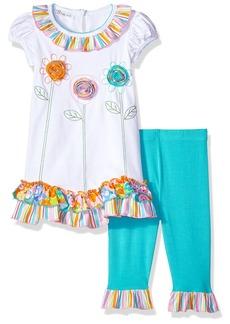 Bonnie Jean Toddler Girls' Appliqued Dress and Legging Set