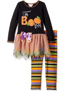 Bonnie Jean Toddler Girls' Appliqued Tutu Playwear Set