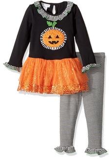 Bonnie Jean Toddler Girls' Appliqued Tutu Playwear Set Pumpkin
