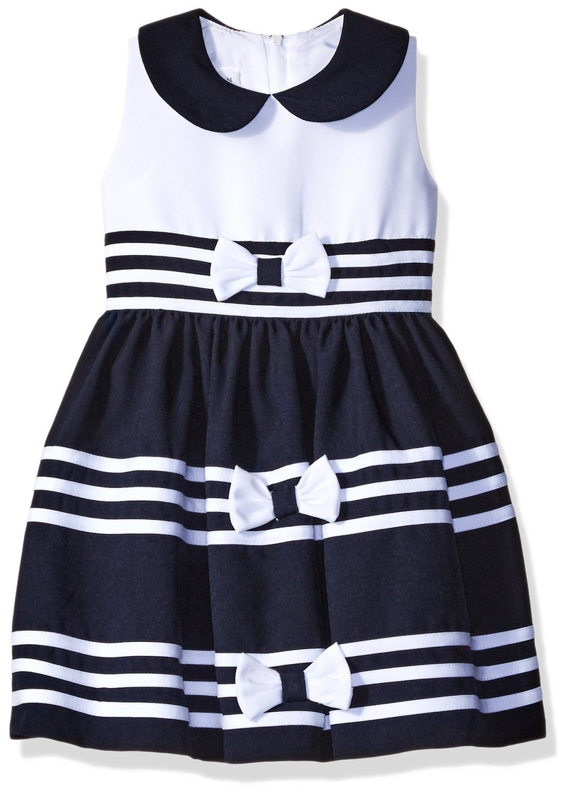 Bonnie Jean Toddler Girls' Band and Bow Nautical Dress