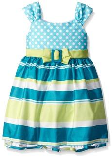 Bonnie Jean Little Girls Sleeveless Shantung Party Dress
