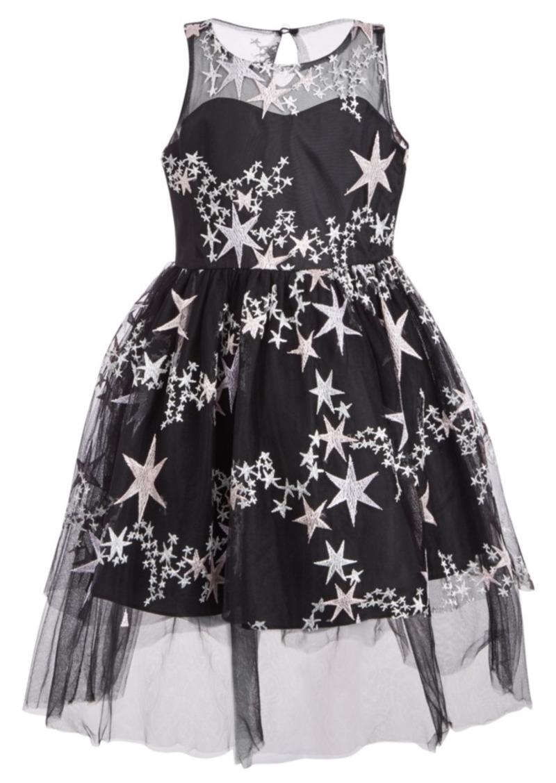 Bonnie Jean Toddler Girls Embroidered Stars Dress