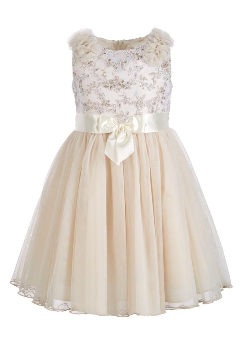 Bonnie Jean Little Girls Embroidered Top Dress