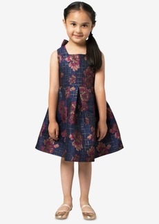 Bonnie Jean Toddler Girls Floral Jacquard Party Dress