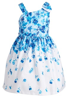 Bonnie Jean Little Girls Floral-Print Bow Shoulder Dress