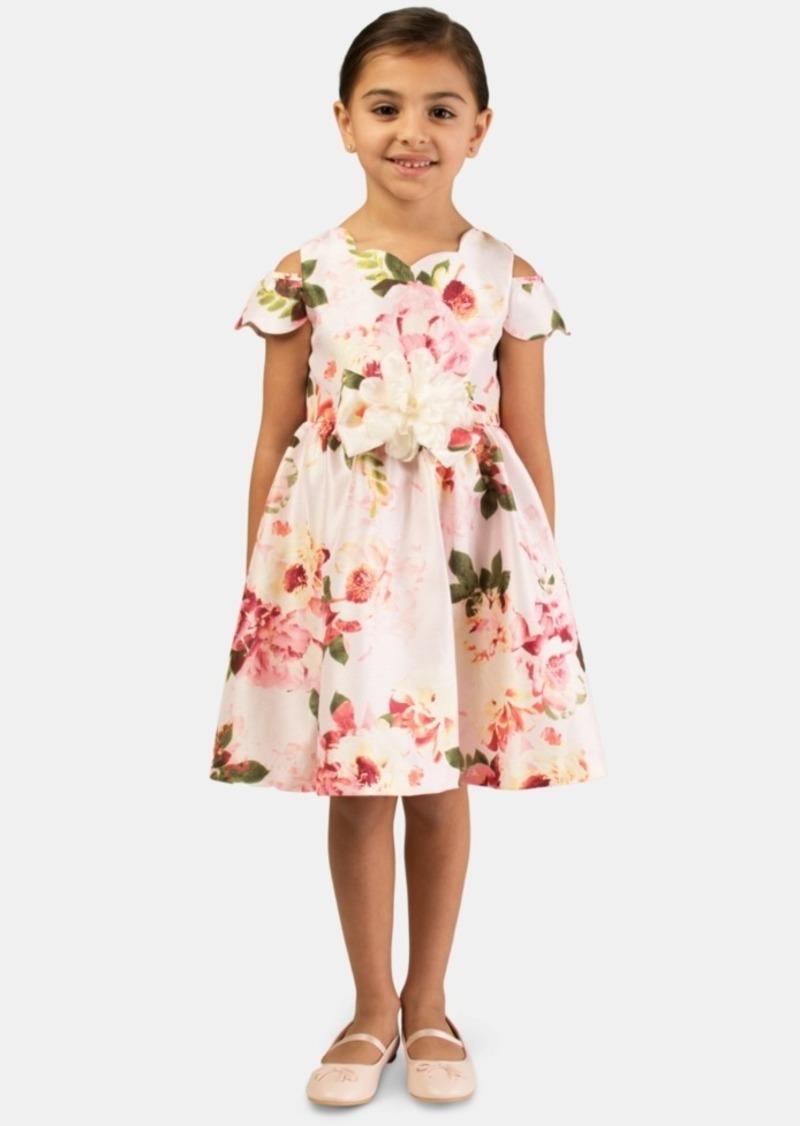 Bonnie Jean Little Girls Floral Shantung Dress