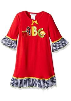 Bonnie Jean Toddler Girls' Little Appliqued Dress ABCs