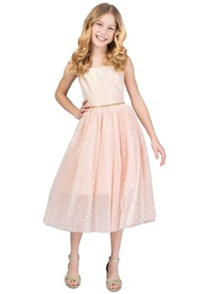 Bonnie Jean Toddler Girls Metallic Ballerina Midi Dress