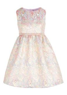 Bonnie Jean Toddler Girls Metallic Brocade Dress