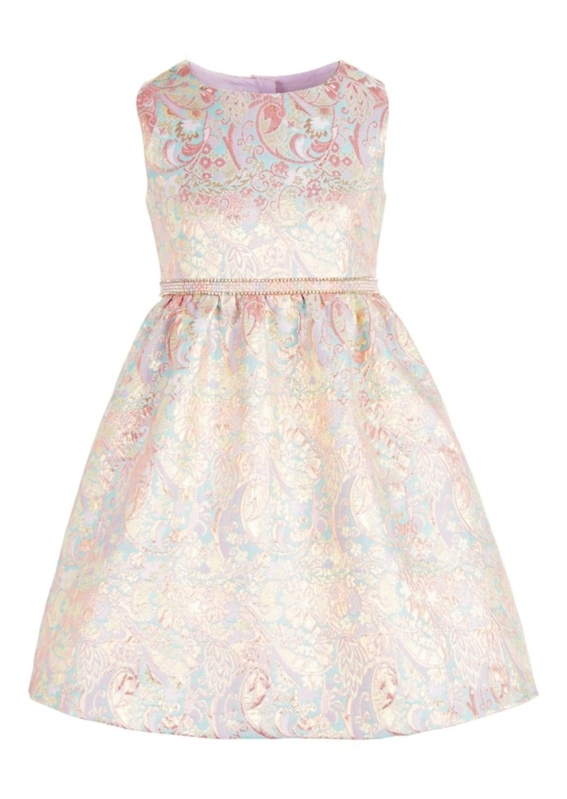 Bonnie Jean Little Girls Metallic Brocade Dress