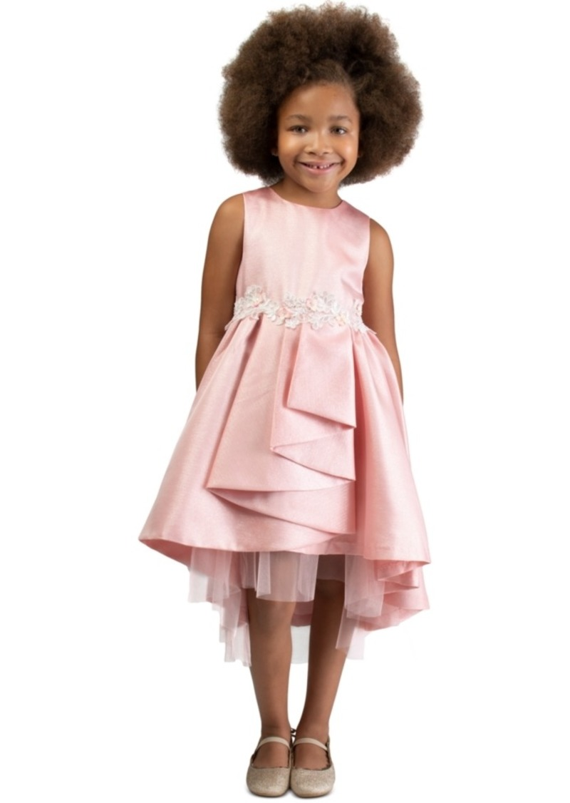 Bonnie Jean Toddler Girls Metallic High-Low Cascade Dress