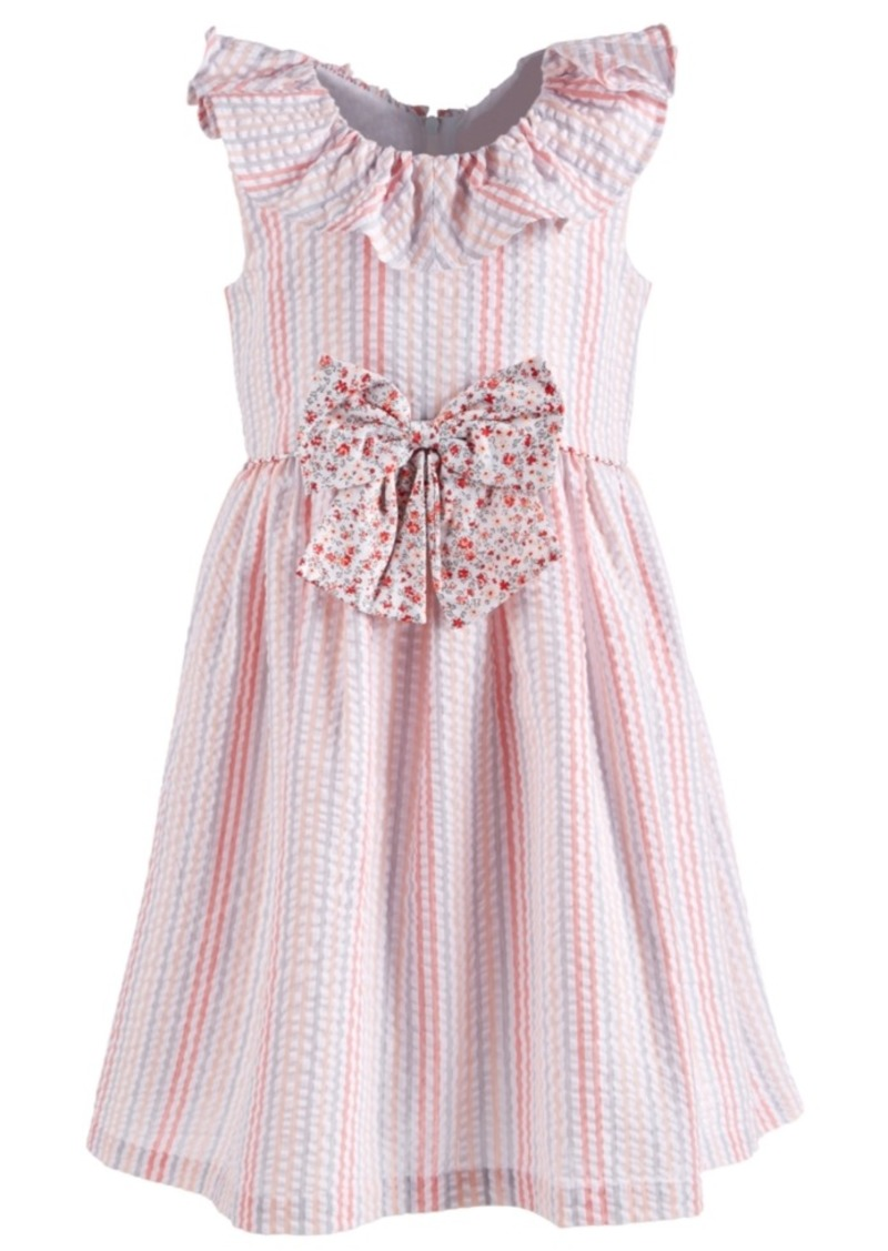 Bonnie Jean Toddler Girls Multi-Stripe Seersucker Dress