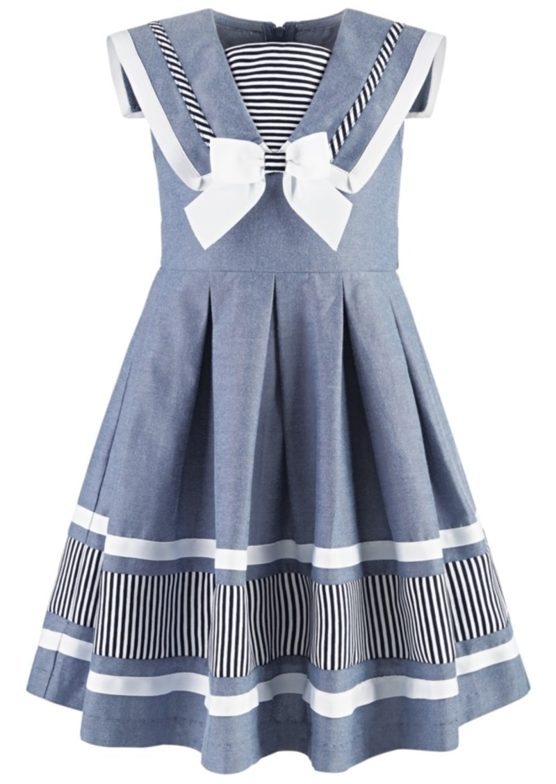 Bonnie Jean Little Girls Nautical Chambray Dress