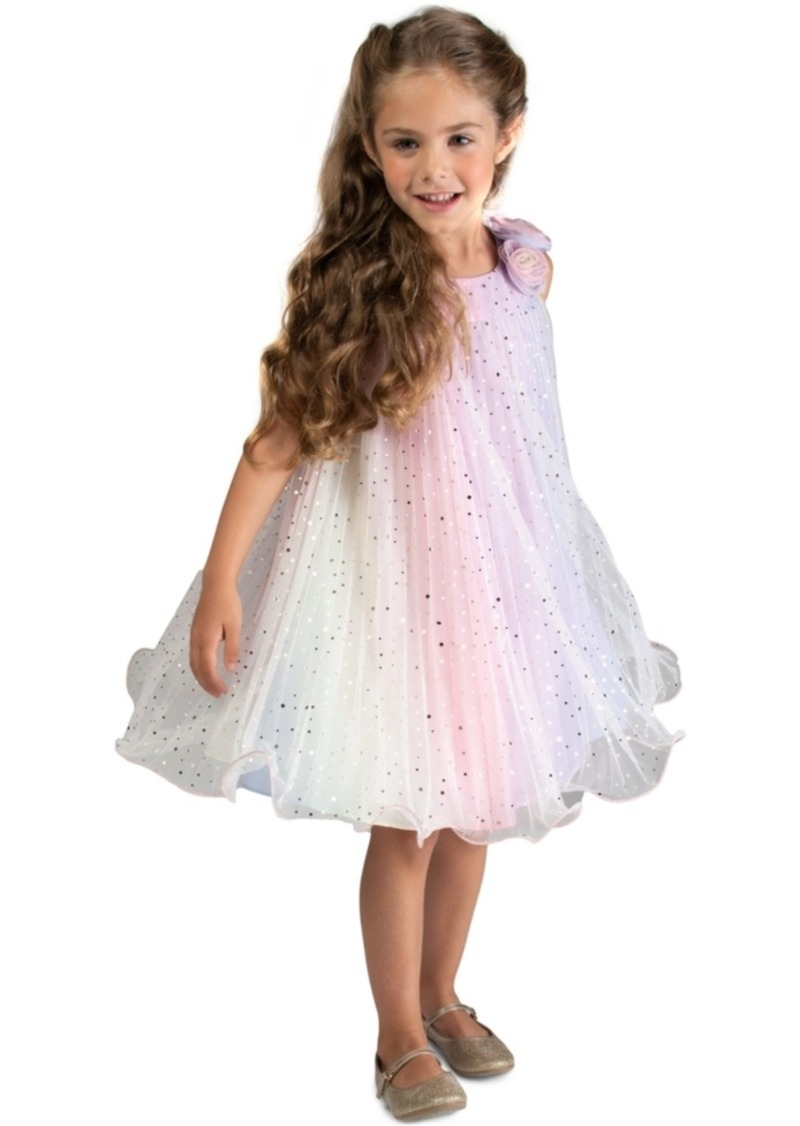 Bonnie Jean Toddler Girls Pleated Rainbow Trapeze Dress