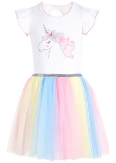 Bonnie Jean Toddler Girls Rainbow Unicorn Dress