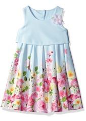 Bonnie Jean Toddler Girls' Sleeveless Floral Border Party Dress